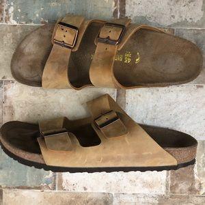Mens Birkenstock Arizona Sandals Oiled Leather